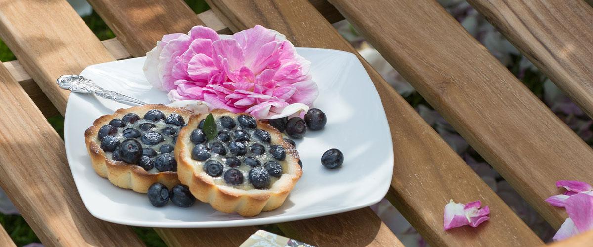 Blaubeer-Tartelettes mit Vanillecreme